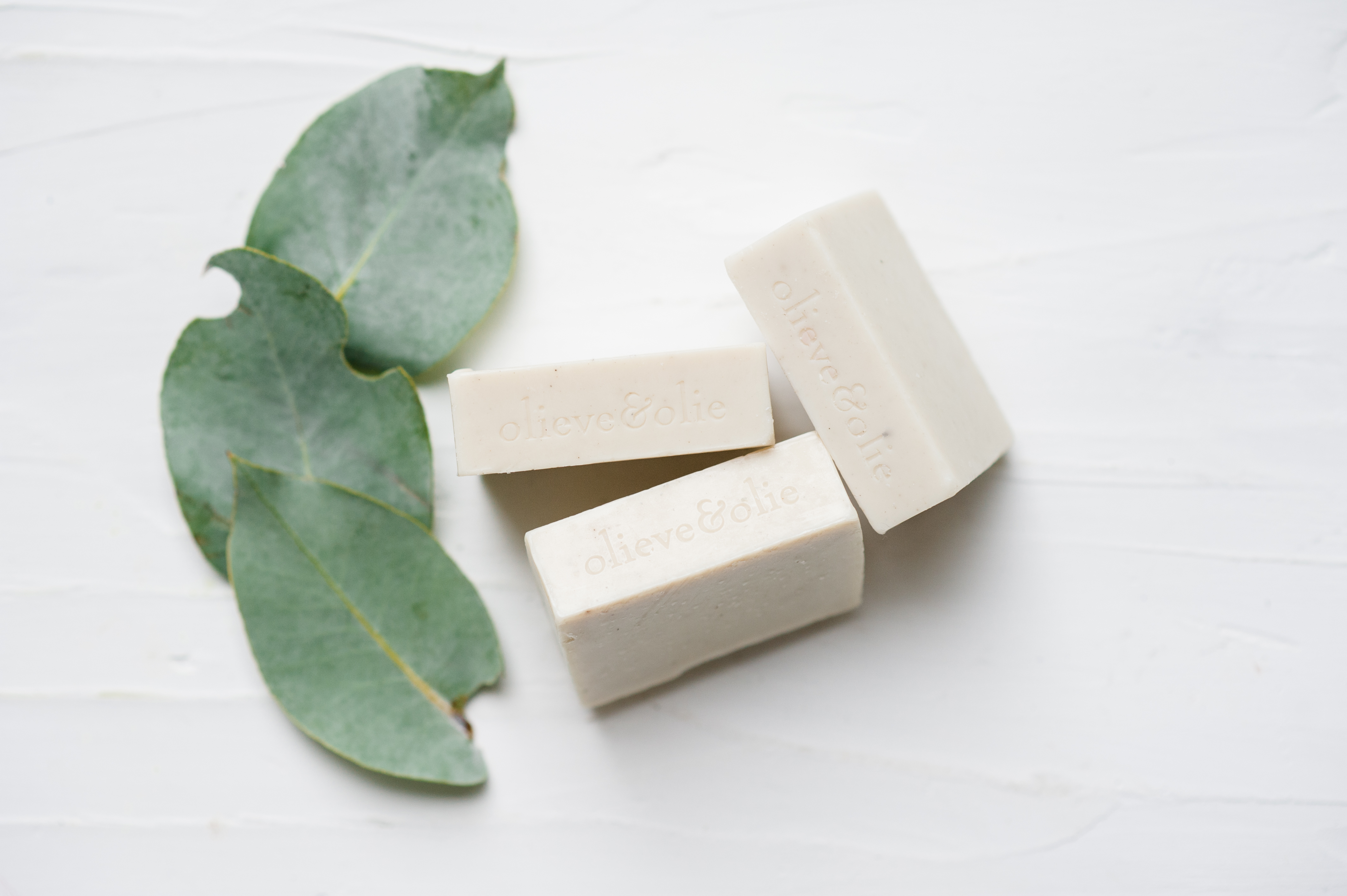 Olive oil and goats milk bar soap - pack of 3