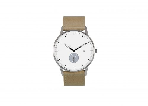 Signature silver / tan watch