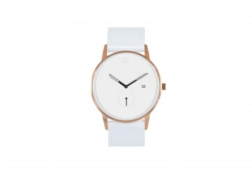 Modernist rose gold / white watch