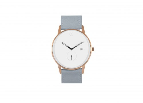 Modernist rose gold / grey watch