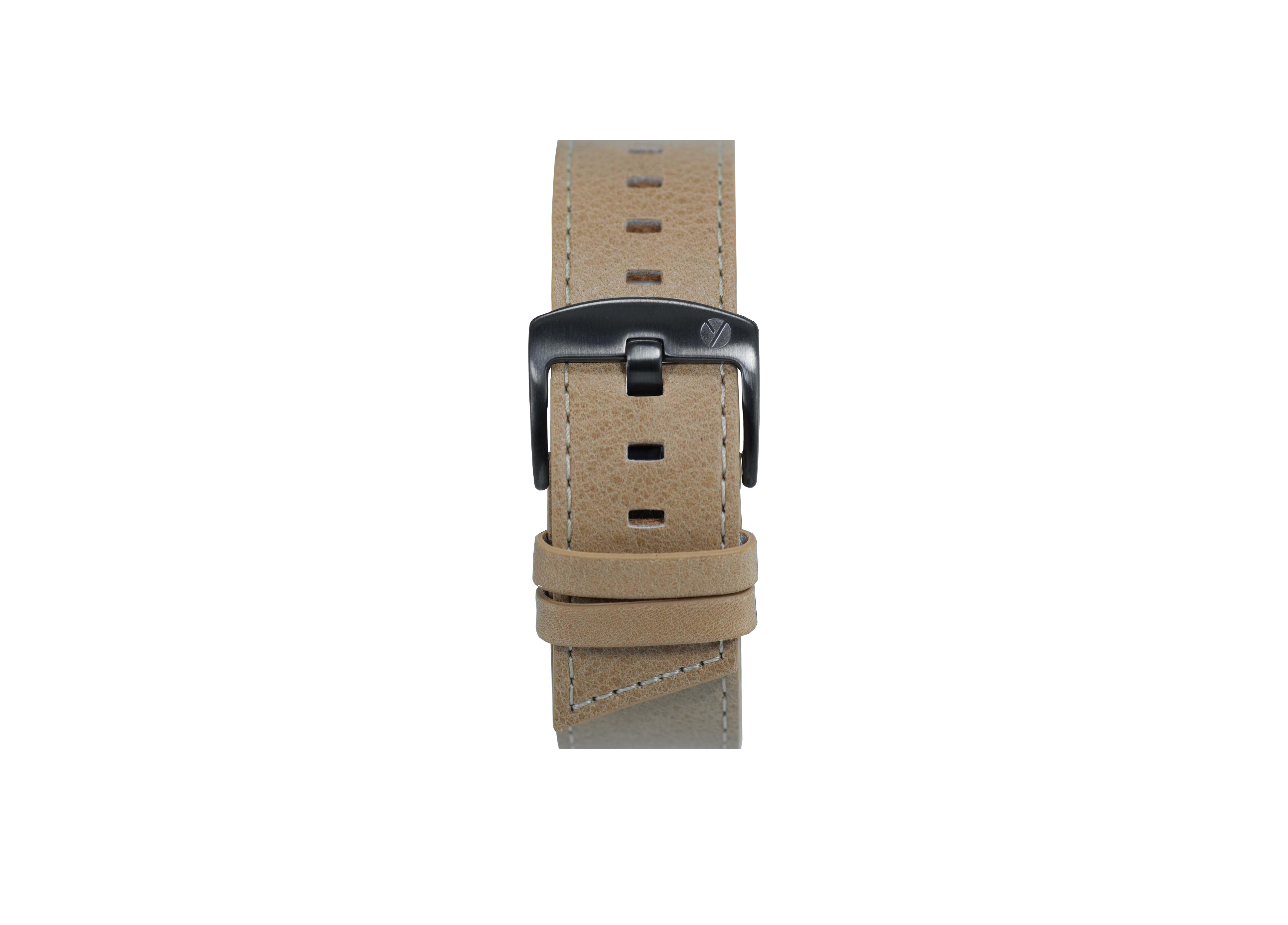 Signature gunmetal / tan watch