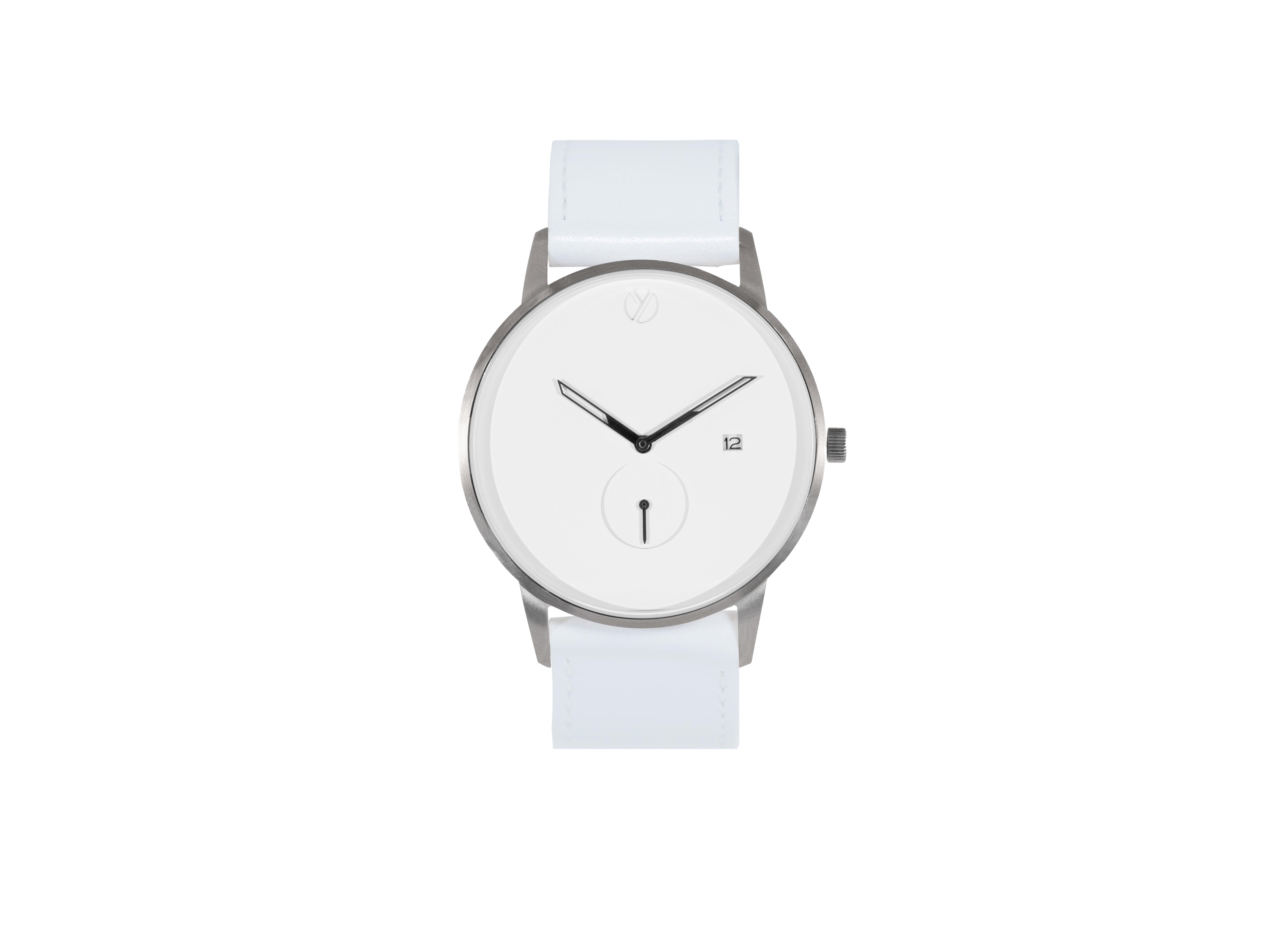 Modernist silver /white watch