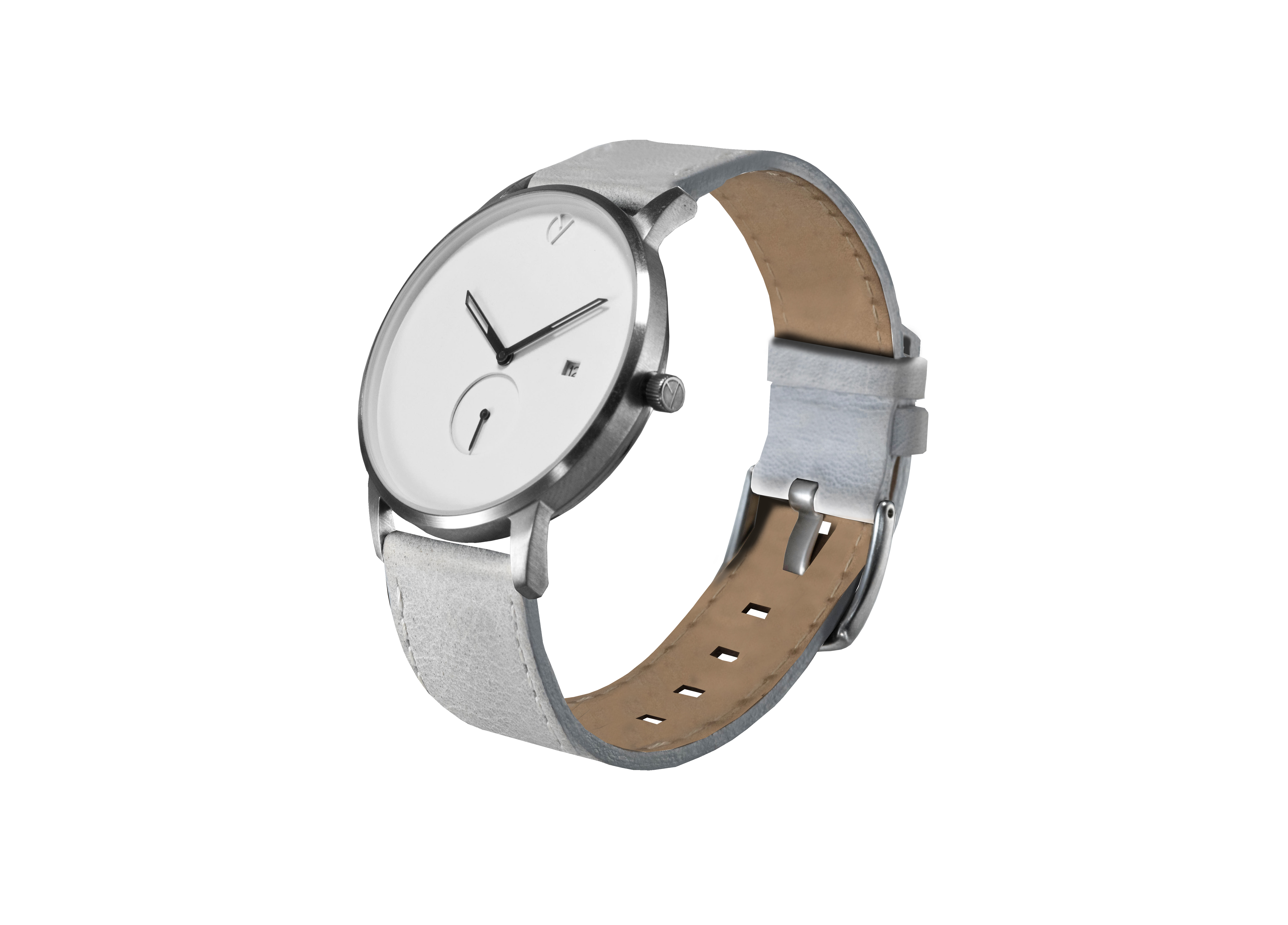 Modernist silver / grey watch