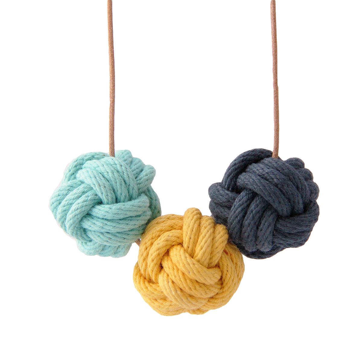 Nautical knot necklace santorini