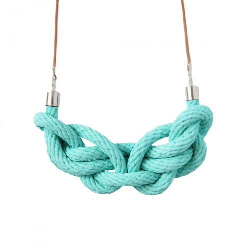 Paris knot necklace turquoise