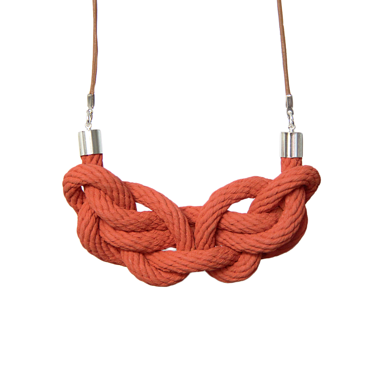 Paris knot necklace terracotta