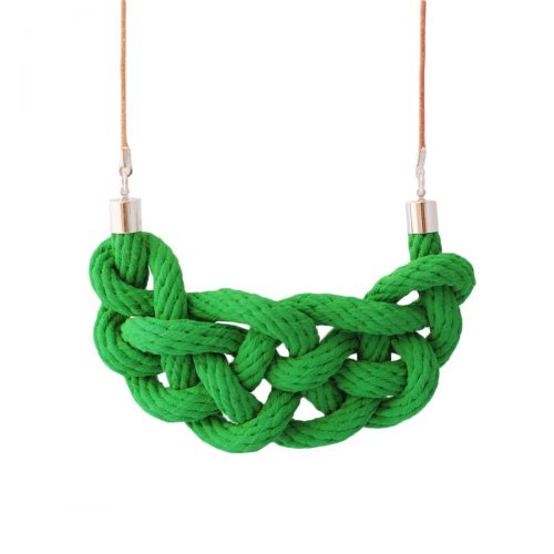 Celtic knot necklace emerald