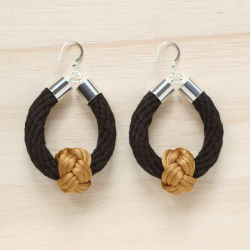 Safari earrings black with old gold